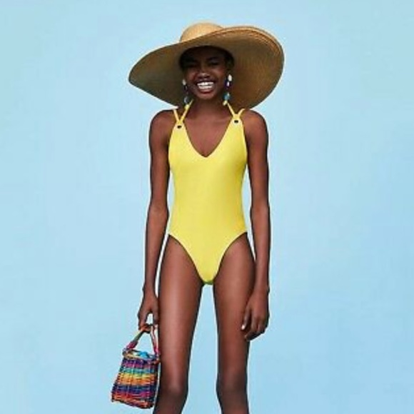 0ba15efe Zara Yellow One Piece Swimsuit, Sz Small NWT